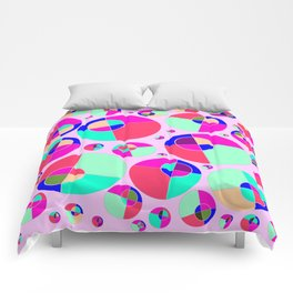 Bubble pink Comforters