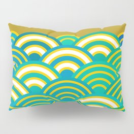 Seigaiha or seigainami literally means wave of the sea. Merry Christmas card Pillow Sham