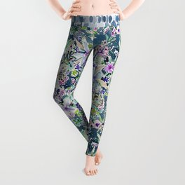 TALIA'S GARDEN Colorful Badass Floral Leggings