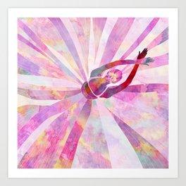 Sleeping Ballerina Floral Art Print