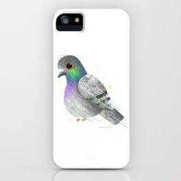 City Pigeon Bird Illustration  iPhone Case