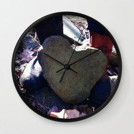 Natural Heart Wall Clock