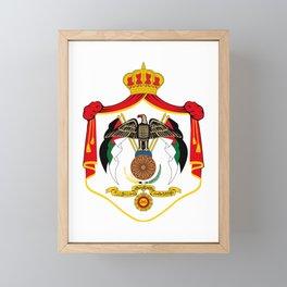 Royal Coat of Arms of Jordan  Framed Mini Art Print