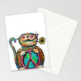 Peace Chubbycat Stationery Cards