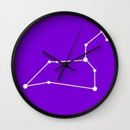 Leo (White & Purple) Wall Clock