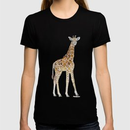 Baby Giraffe Watercolor Painting T-shirt
