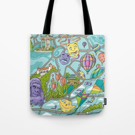 Map of Forest Park Tote Bag