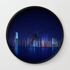 Miami Skyline Abstract Wall Clock