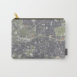Madrid city map engraving Carry-All Pouch