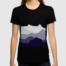 BLUE MOUNTAIN PANORAMA #minimal #art #design #kirovair #buyart #decor #home T-shirt