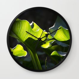 Green Contrast - Light and Dark Wall Clock