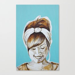 In The Studio Canvas Print