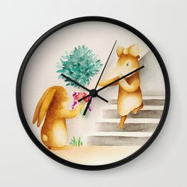 Flowers for my darling Wall Clock