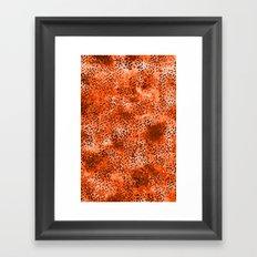 Wild (Series) Orange Framed Art Print
