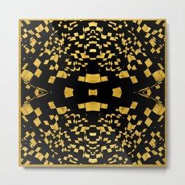 Rubik series 3, gold and balck Metal Print