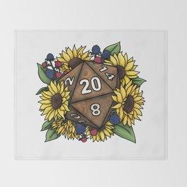 Sunflower D20 Tabletop RPG Gaming Dice Throw Blanket