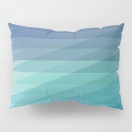 Fig. 042 Blue Geometric Diagonal Stripes Pillow Sham