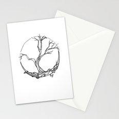 Moon tree Stationery Cards