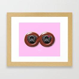 Infinity Pugs Framed Art Print