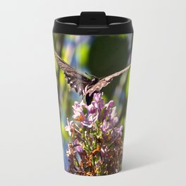 Butterfly on Lilacs Travel Mug