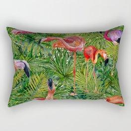 Aloha- Flamingo Bird Jungle Rectangular Pillow
