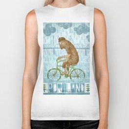 Dirty Wet Bigfoot Hipster Biker Tank