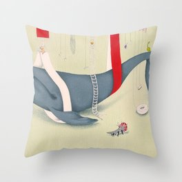 A whale has landed Throw Pillow