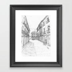 Calle Mayor of Alcalá Framed Art Print