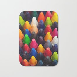 Various Crayons Stacked Together Bath Mat