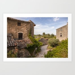 Ancient Buildings In Provence Art Print