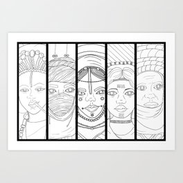 Pantheon Version 1 Art Print