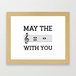 May the 4th be with you (light colors) Framed Art Print