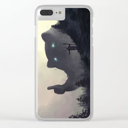 yo bro is it safe down there in the woods? yeah man it's cool Clear iPhone Case