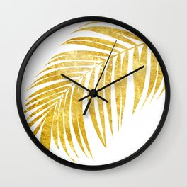 Gold Palm Leave Wall Clock