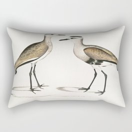 Black Sided Sandpiper Male and Female (Charadrius ventralis) from Illustrations of Indian zoology (1 Rectangular Pillow
