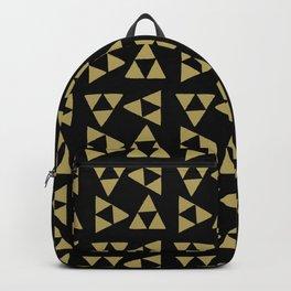 Print 127 - the legend of Zelda Triforce - Black Backpack