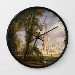 """John Constable """"Salisbury Cathedral from the Bishop's Garden"""" Wall Clock"""