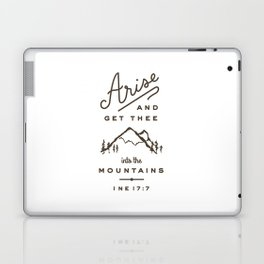 Arise and get thee into the mountains. Laptop & iPad Skin