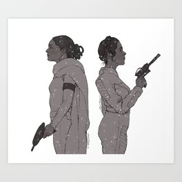 In a Galaxy Far Far Away Art Print