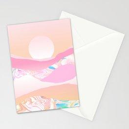 Sunrise Swirls Stationery Cards