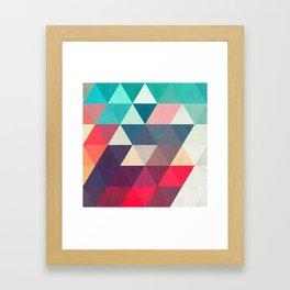 Modern triangular composition VII Framed Art Print