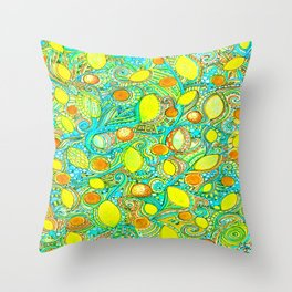 Abstract Citrus pattern drawing Throw Pillow