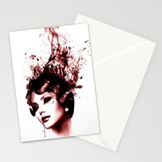 the woman in red Stationery Cards