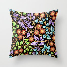 Filigree Flora Throw Pillow