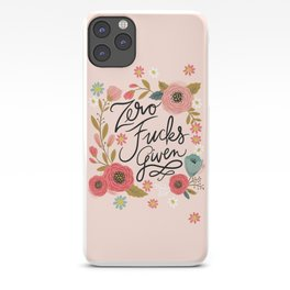 Pretty Swe*ry: Zero Fucks Given, in Pink iPhone Case