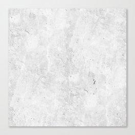 White Light Gray Concrete Canvas Print