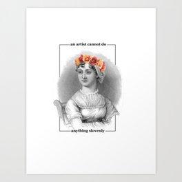 Jane Austen Quote Art Art Print
