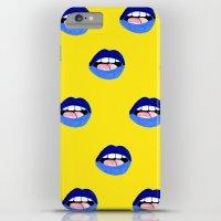 Blue Lips iPhone 6 Plus Slim Case