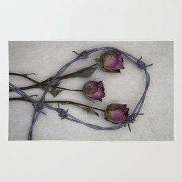 Three dried Roses II Rug