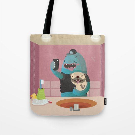 Bathroom selfie Tote Bag